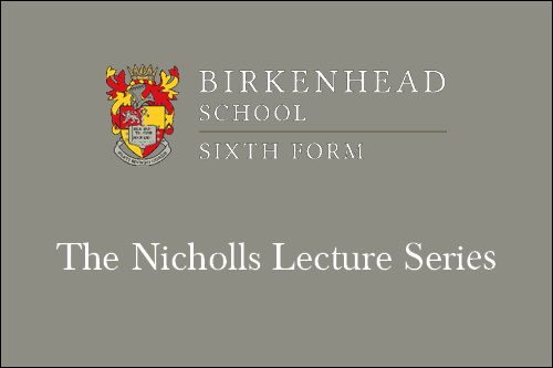 Nicholls Lecture Series - Mr James Shone