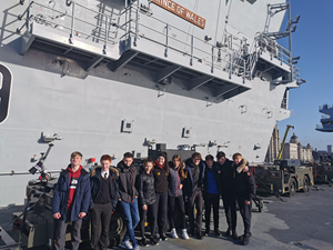 Visit to HMS Prince of Wales