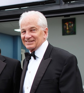 David Gower at Birkenhead School in April 2017